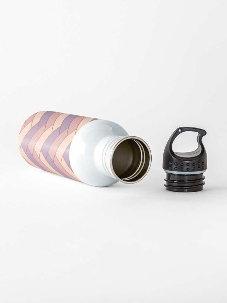 Alternate view of Geometric Pattern: Herringbone: Autumn Water Bottle