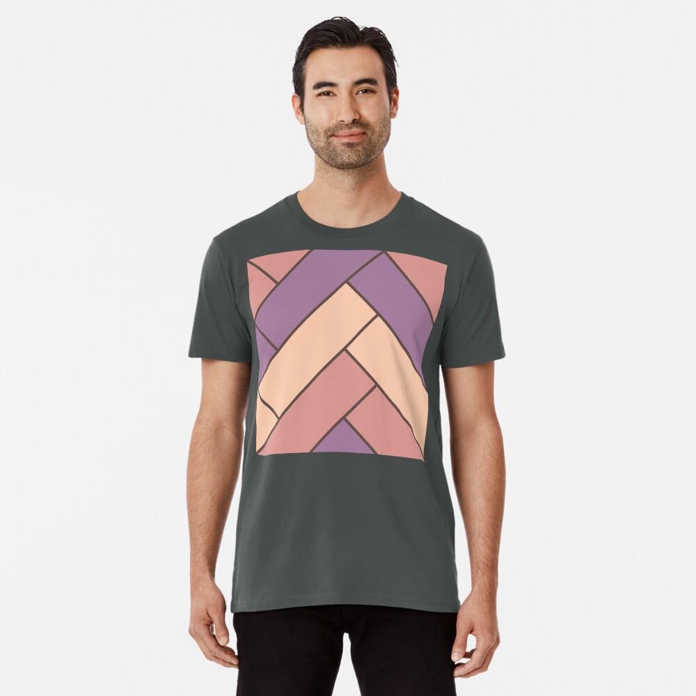 Geometric Pattern: Herringbone: Autumn Premium T-Shirt