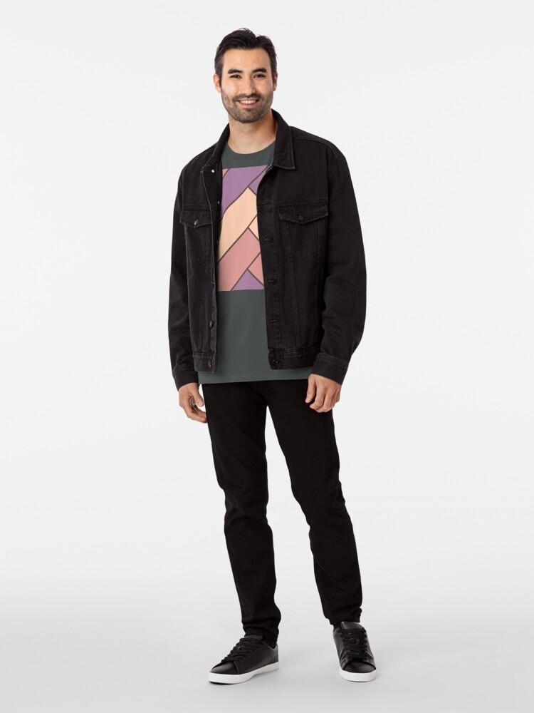 Alternate view of Geometric Pattern: Herringbone: Autumn Premium T-Shirt