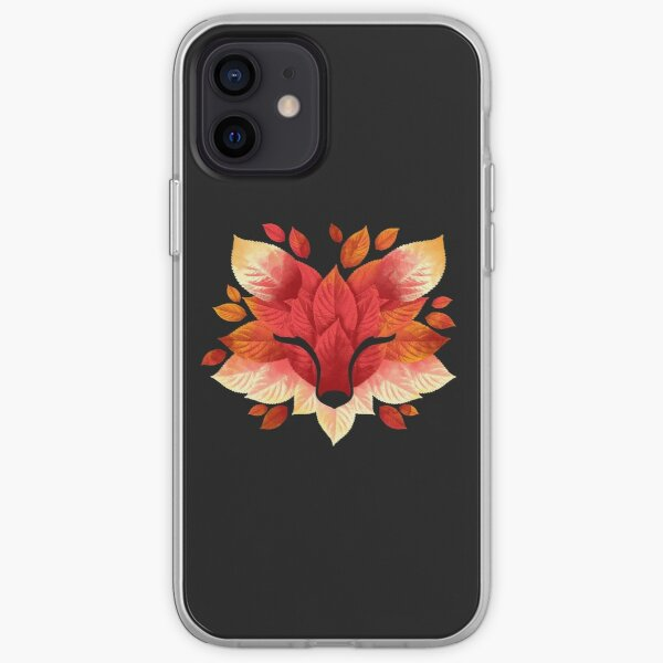 Fox of leaves iPhone Soft Case