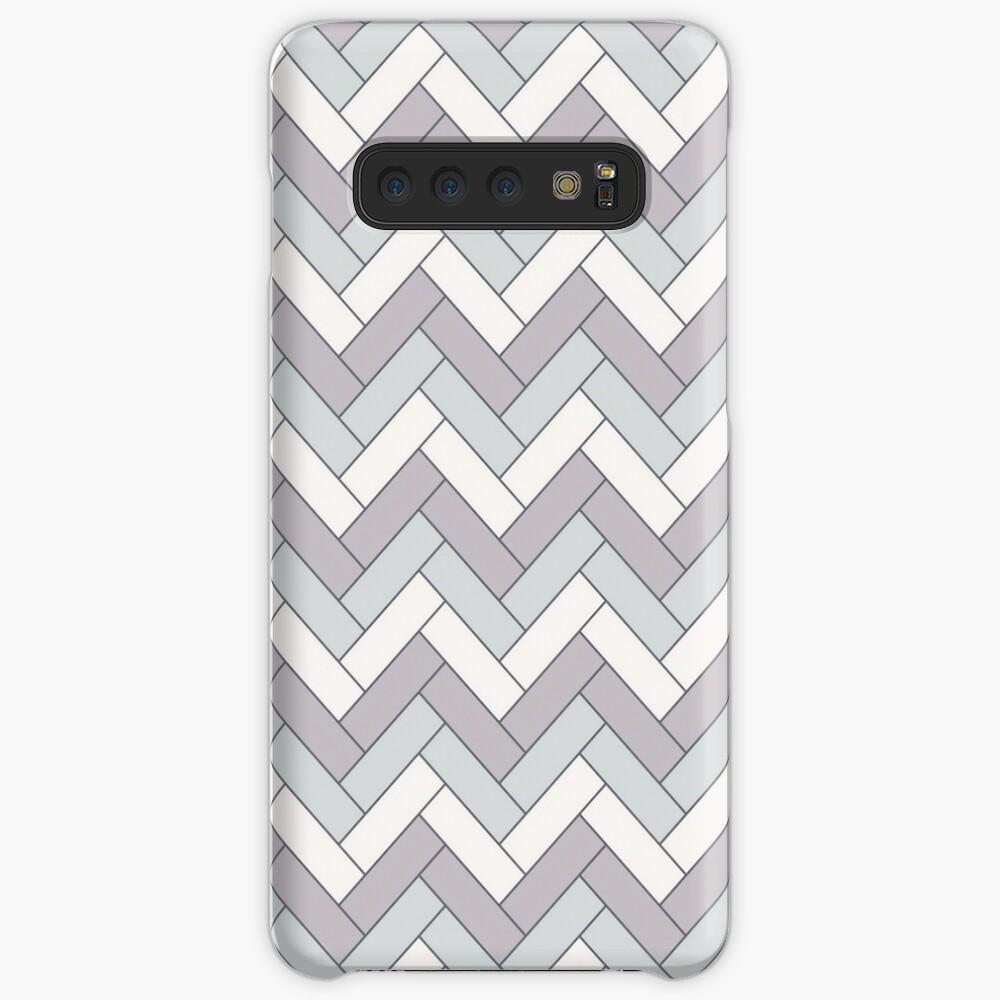 Geometric Pattern: Herringbone: Winter Case & Skin for Samsung Galaxy