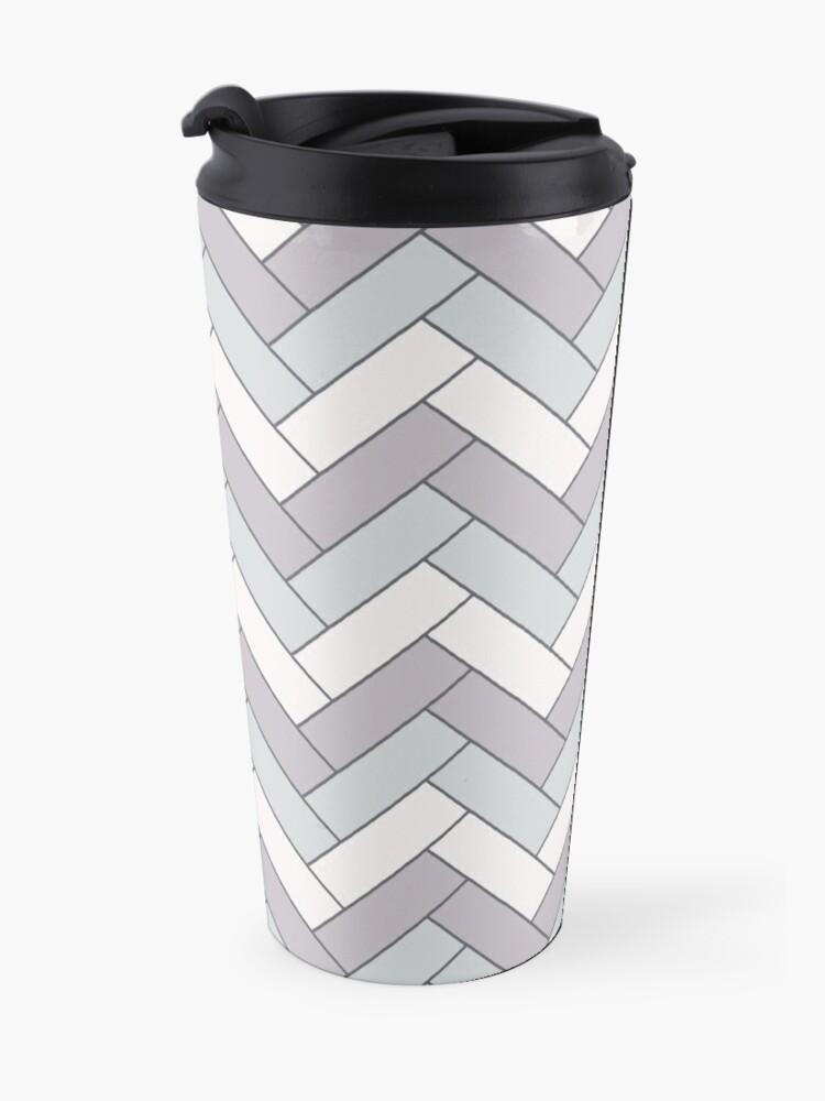 Alternate view of Geometric Pattern: Herringbone: Winter Travel Mug