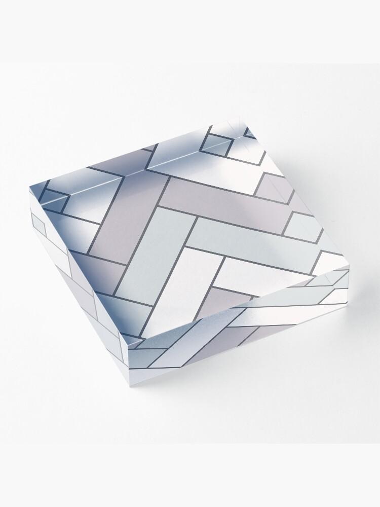 Alternate view of Geometric Pattern: Herringbone: Winter Acrylic Block