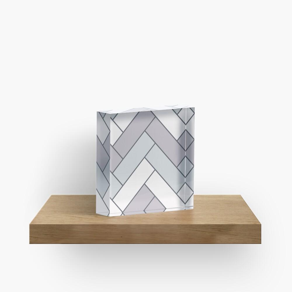 Geometric Pattern: Herringbone: Winter Acrylic Block