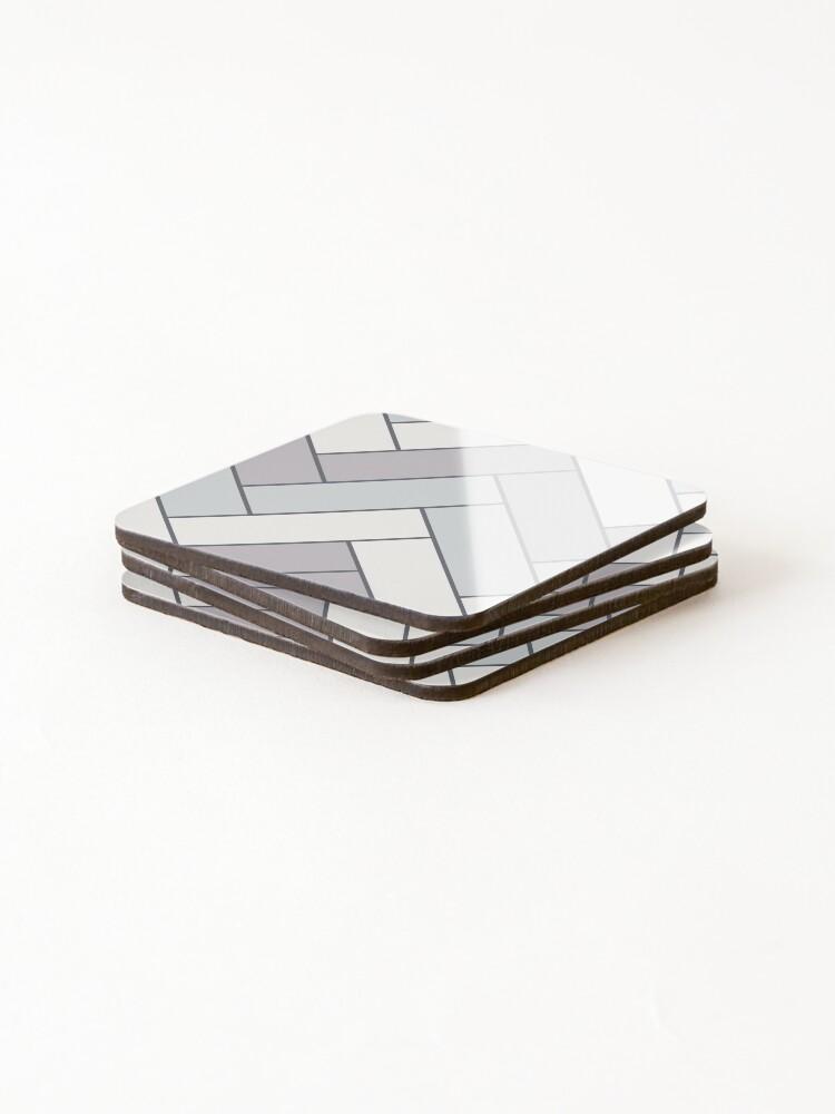 Alternate view of Geometric Pattern: Herringbone: Winter Coasters (Set of 4)