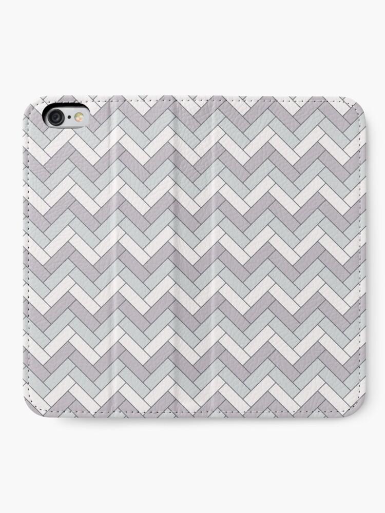 Alternate view of Geometric Pattern: Herringbone: Winter iPhone Wallet