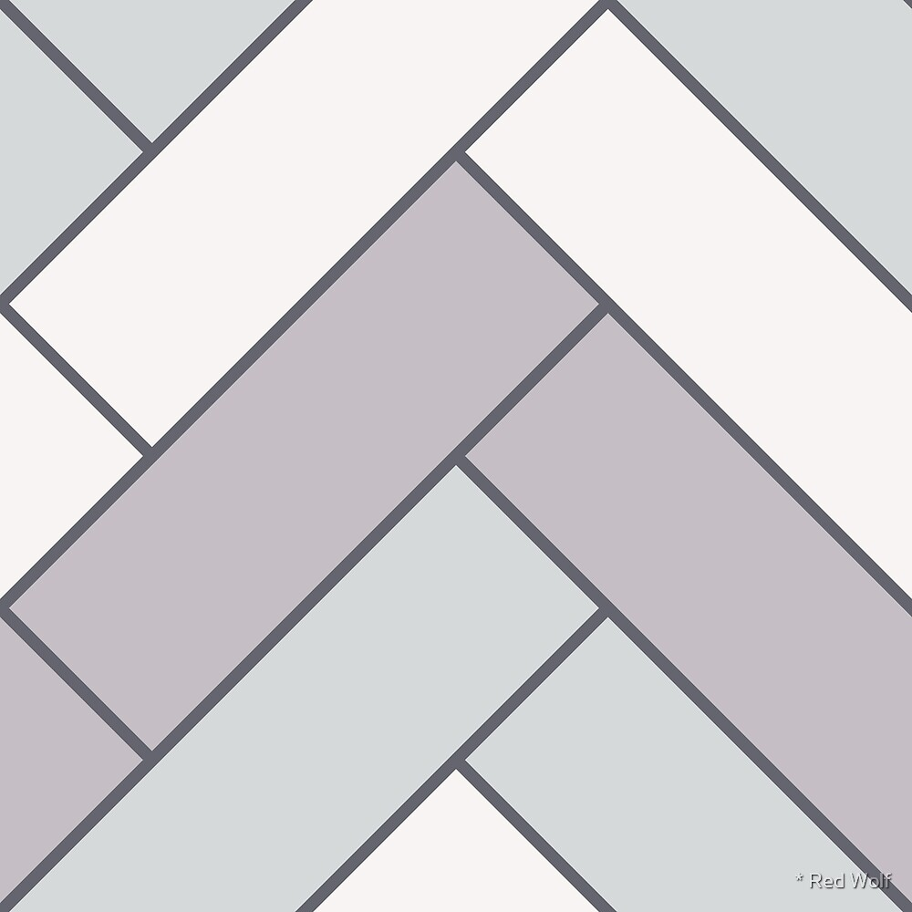 Geometric Pattern: Herringbone: Winter by * Red Wolf