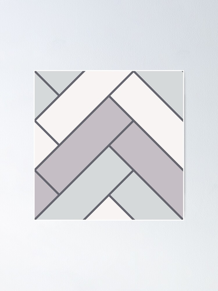 Alternate view of Geometric Pattern: Herringbone: Winter Poster