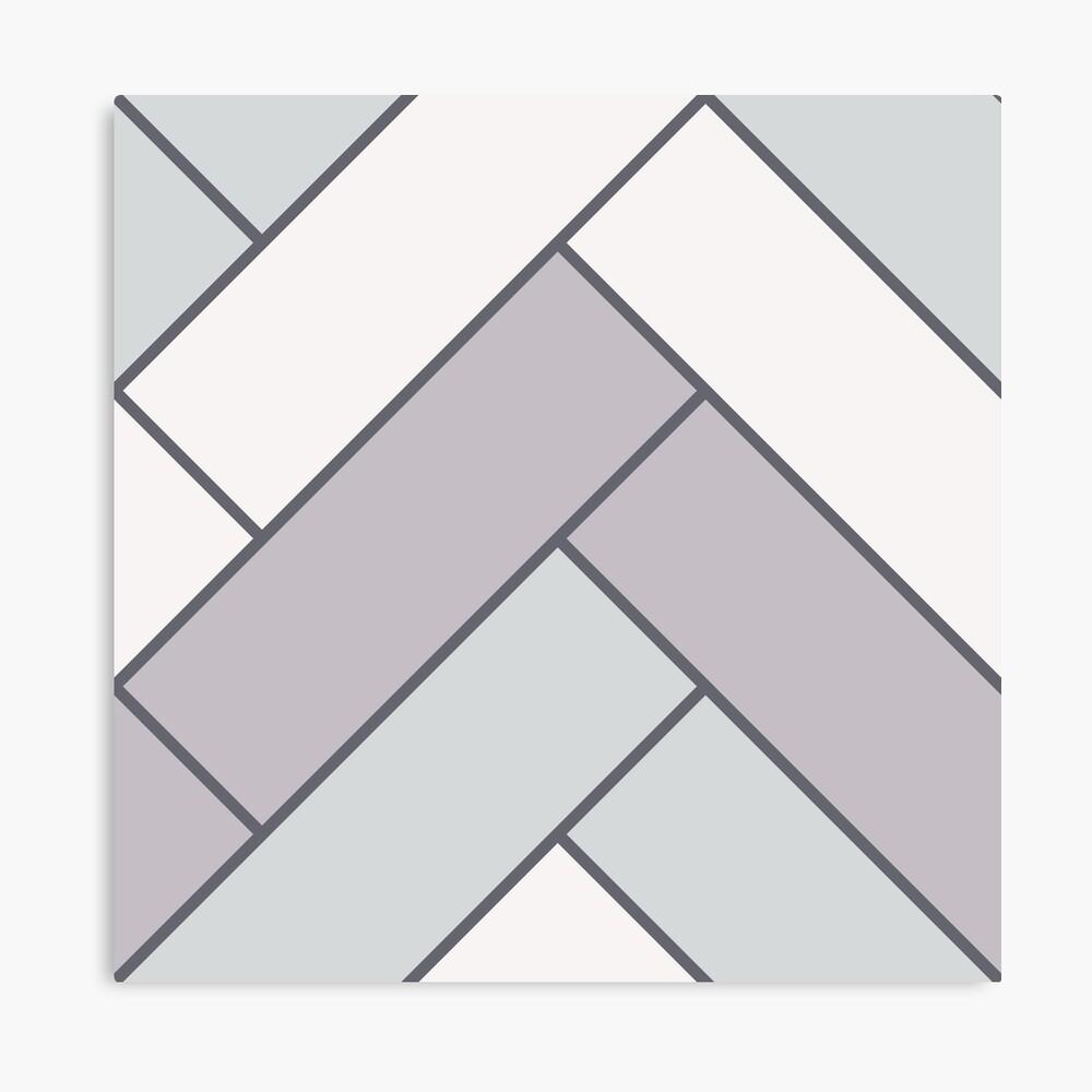 Geometric Pattern: Herringbone: Winter Canvas Print