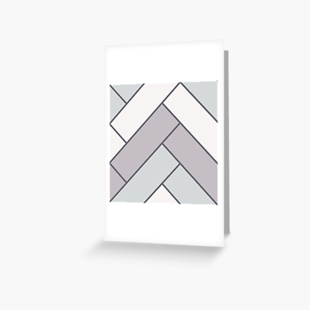 Geometric Pattern: Herringbone: Winter Greeting Card