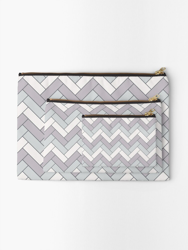 Alternate view of Geometric Pattern: Herringbone: Winter Zipper Pouch