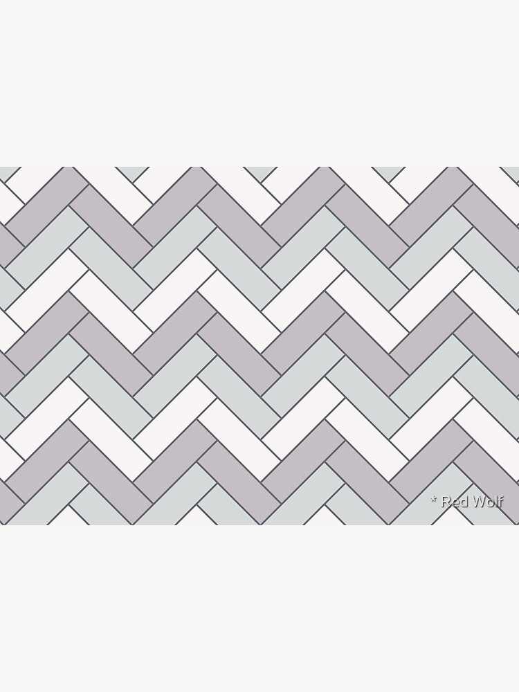 Geometric Pattern: Herringbone: Winter by redwolfoz