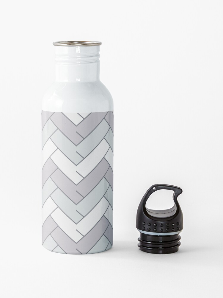 Alternate view of Geometric Pattern: Herringbone: Winter Water Bottle