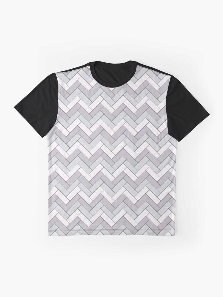 Alternate view of Geometric Pattern: Herringbone: Winter Graphic T-Shirt