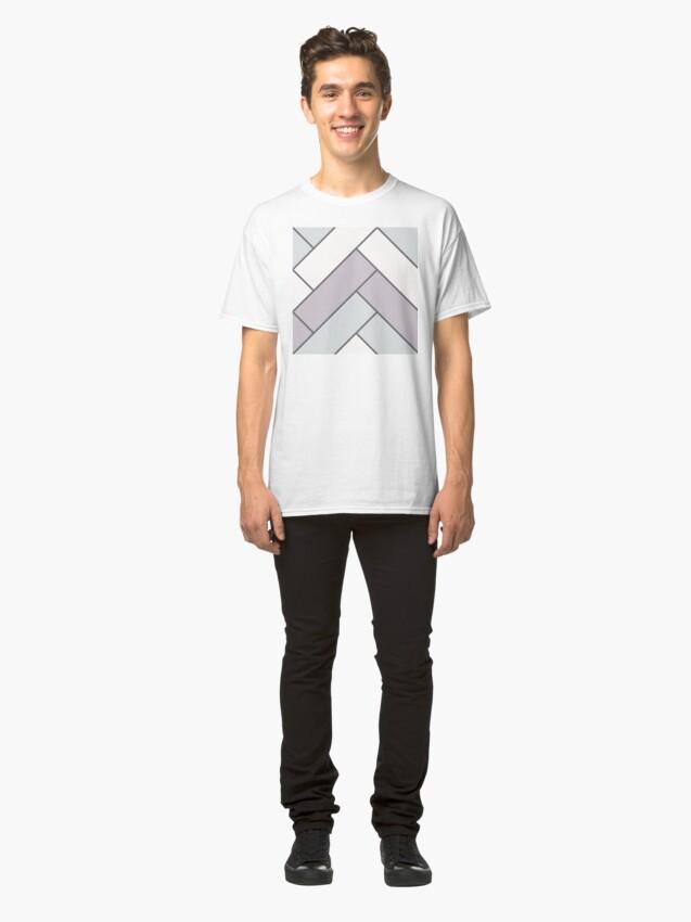 Alternate view of Geometric Pattern: Herringbone: Winter Classic T-Shirt