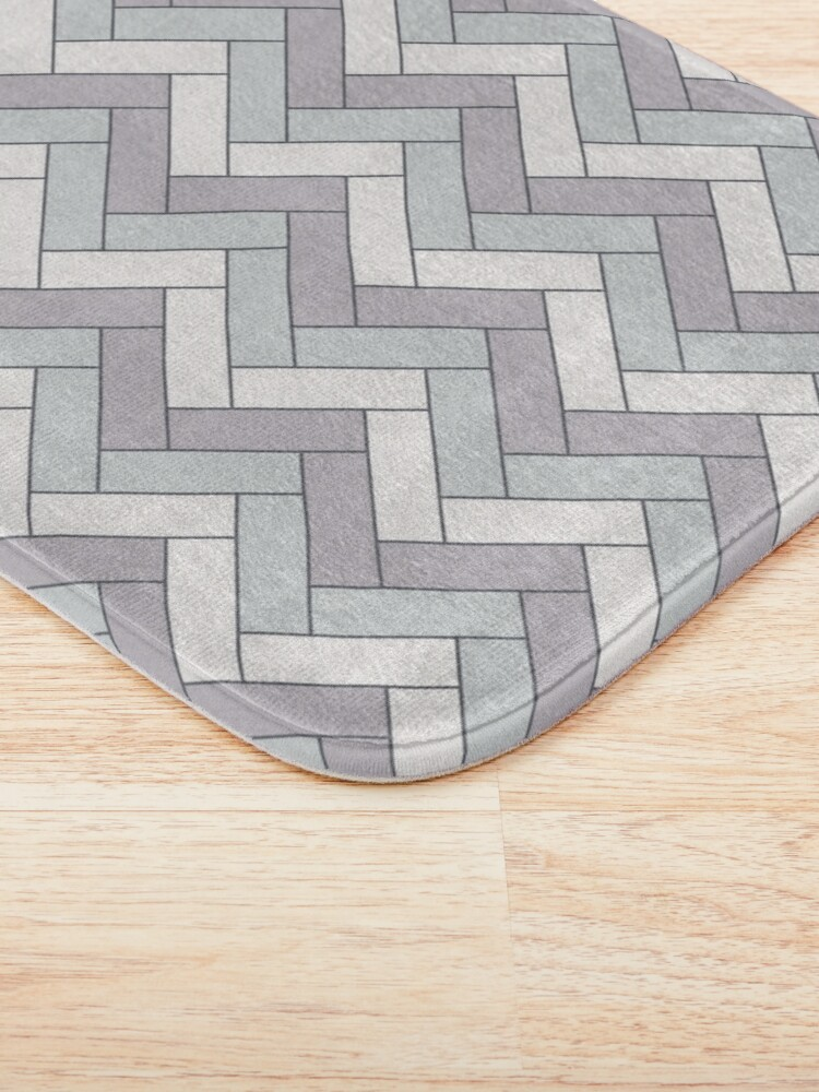 Alternate view of Geometric Pattern: Herringbone: Winter Bath Mat