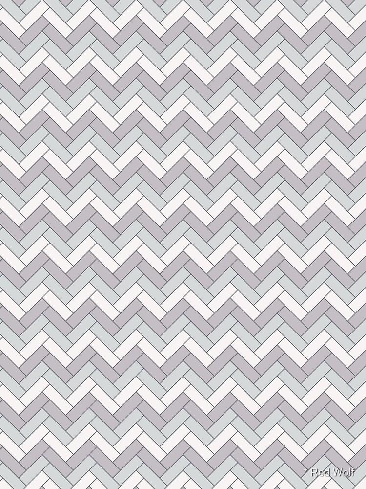 Geometric Pattern: Herringbone: Winter by redwolfoz