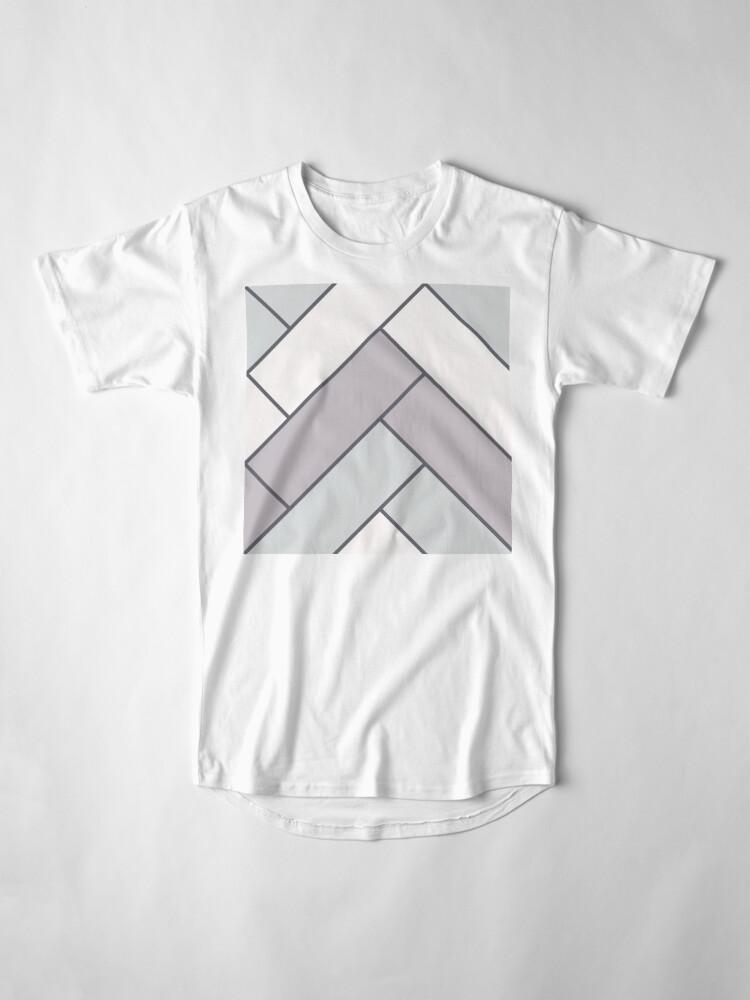 Alternate view of Geometric Pattern: Herringbone: Winter Long T-Shirt