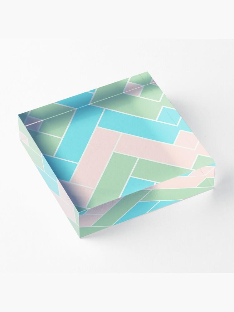 Alternate view of Geometric Pattern: Herringbone: Spring Acrylic Block