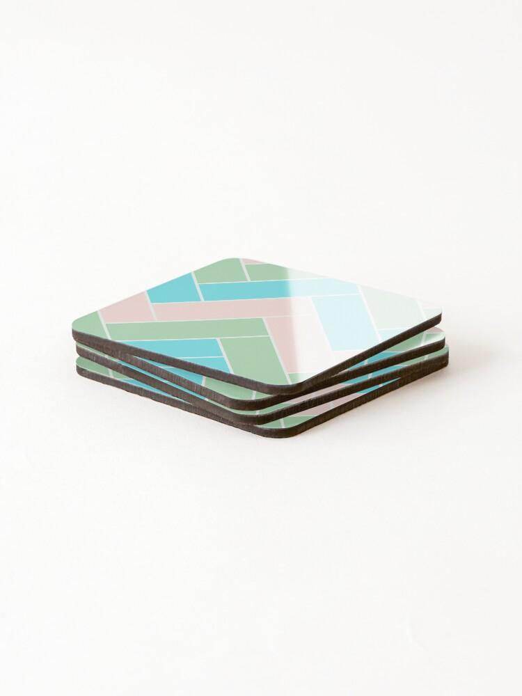 Alternate view of Geometric Pattern: Herringbone: Spring Coasters (Set of 4)