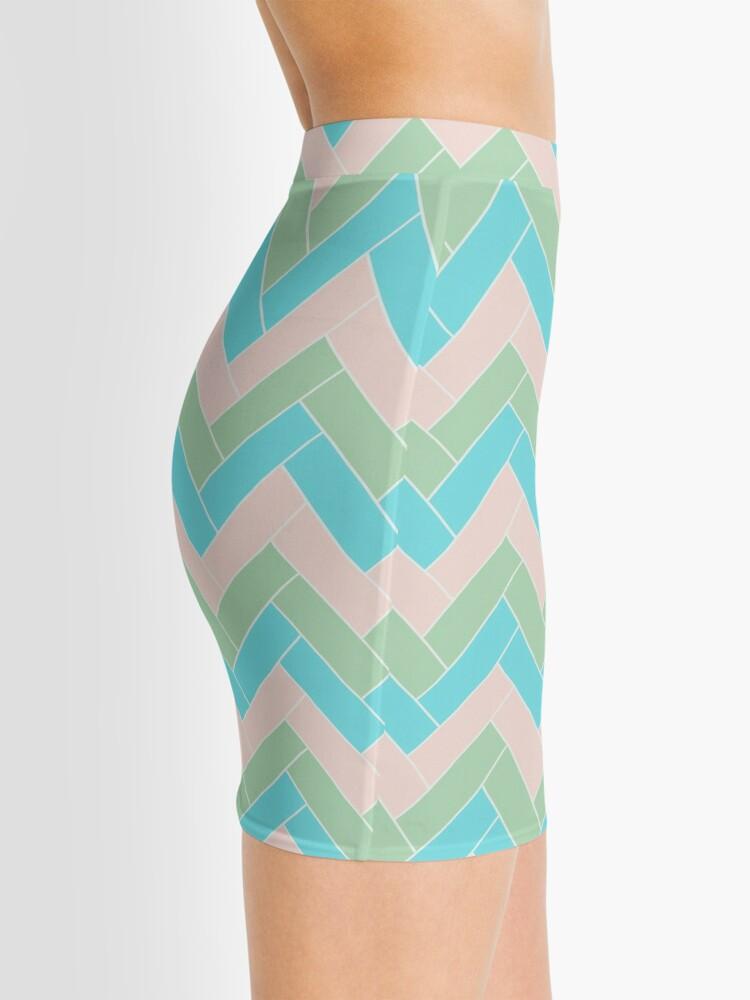 Alternate view of Geometric Pattern: Herringbone: Spring Mini Skirt