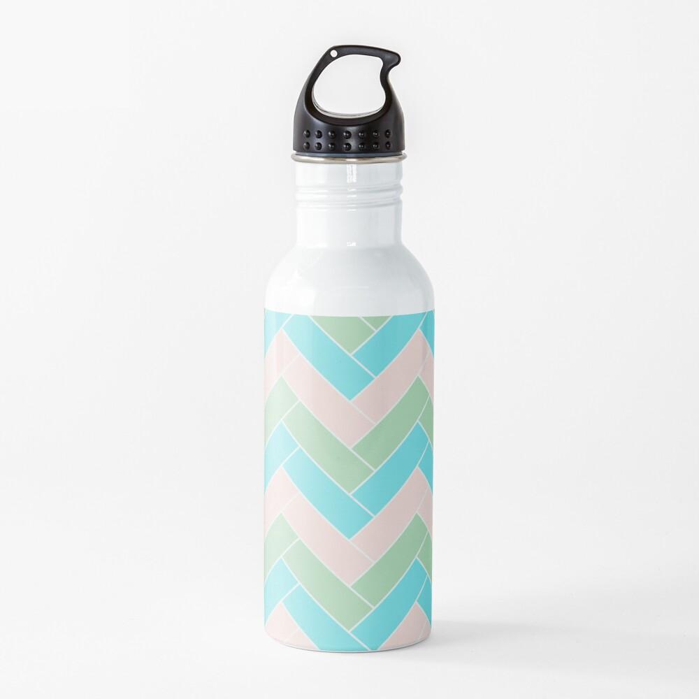 Geometric Pattern: Herringbone: Spring Water Bottle