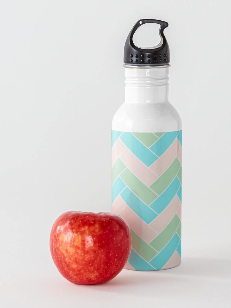 Alternate view of Geometric Pattern: Herringbone: Spring Water Bottle