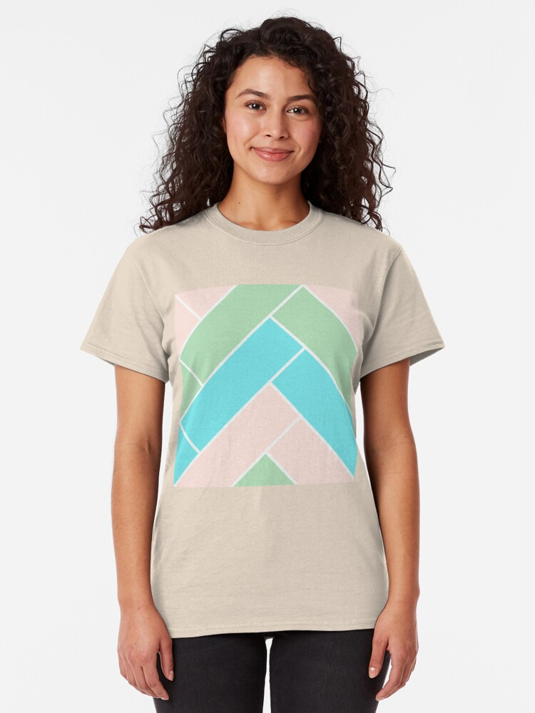 Alternate view of Geometric Pattern: Herringbone: Spring Classic T-Shirt