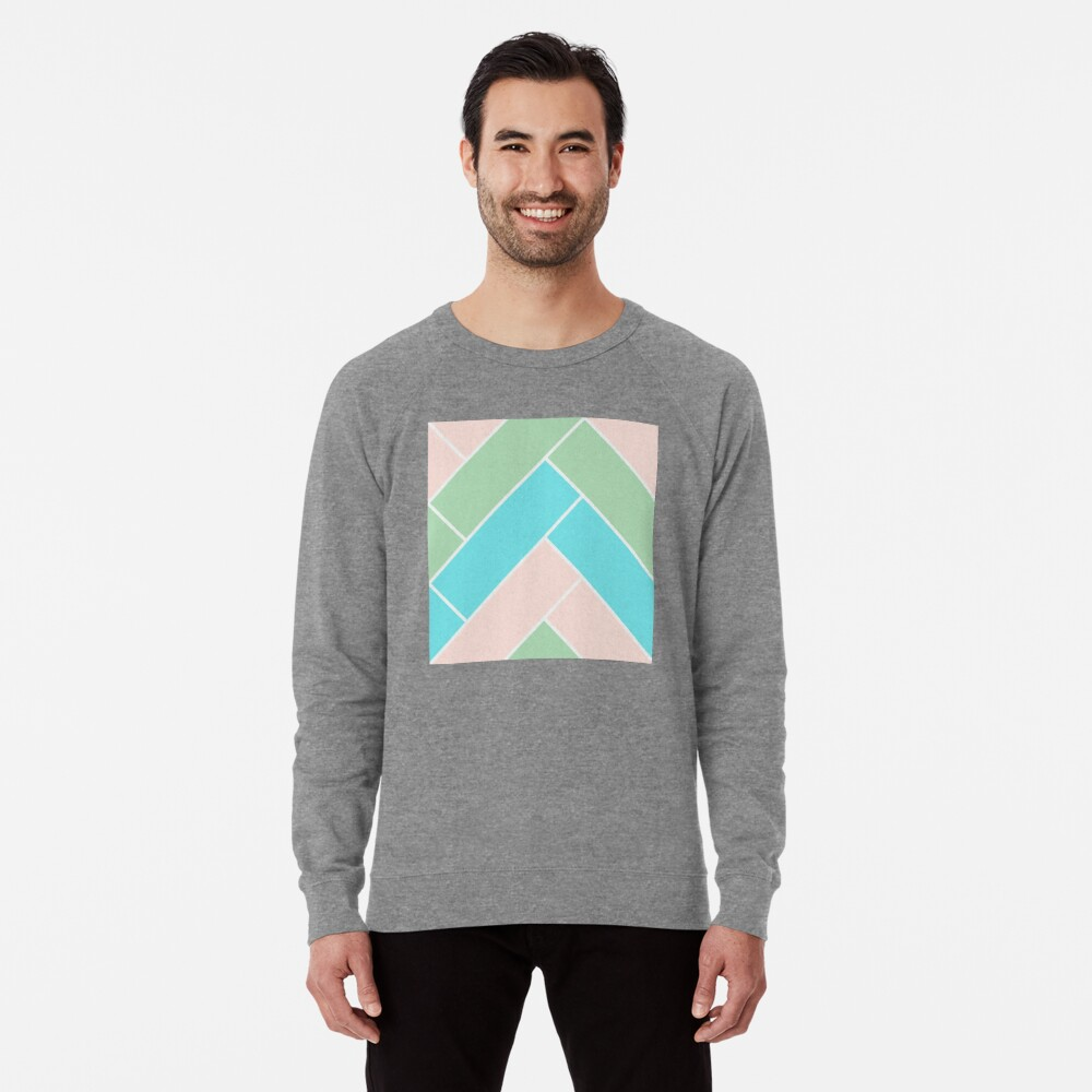 Geometric Pattern: Herringbone: Spring Lightweight Sweatshirt