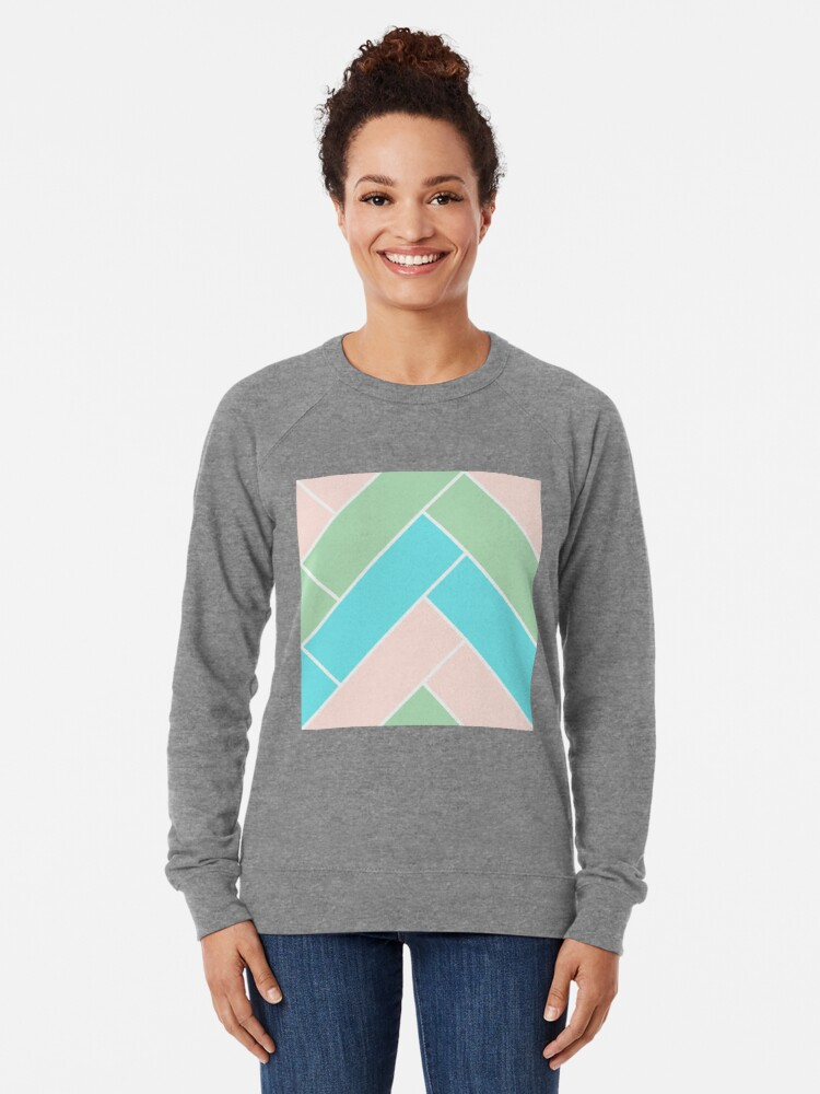 Alternate view of Geometric Pattern: Herringbone: Spring Lightweight Sweatshirt