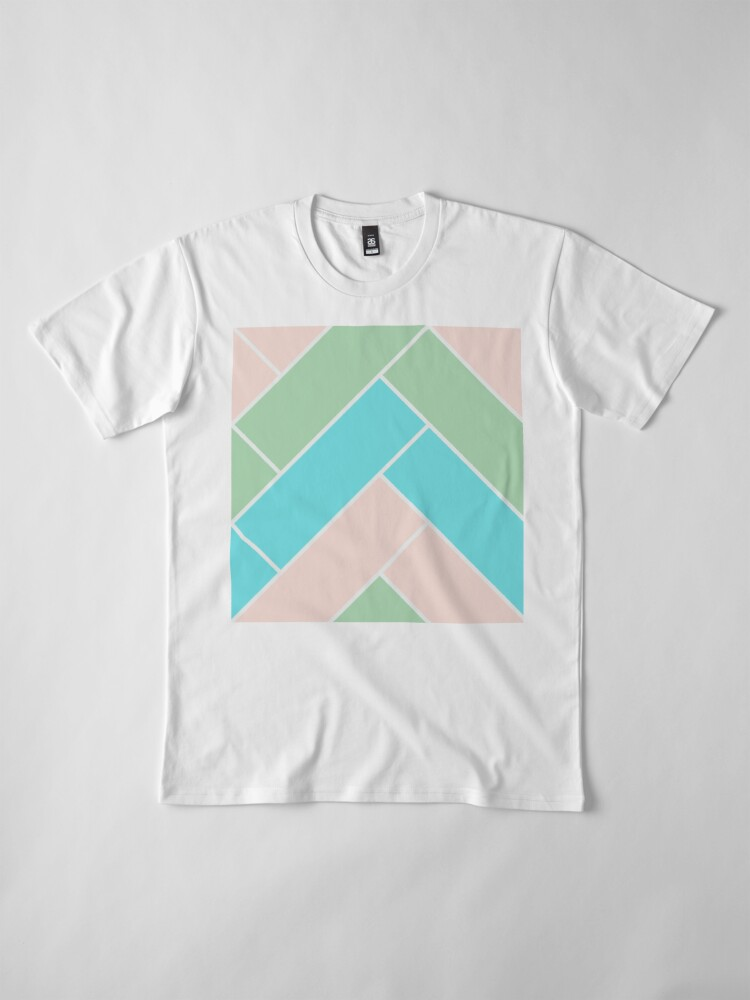 Alternate view of Geometric Pattern: Herringbone: Spring Premium T-Shirt