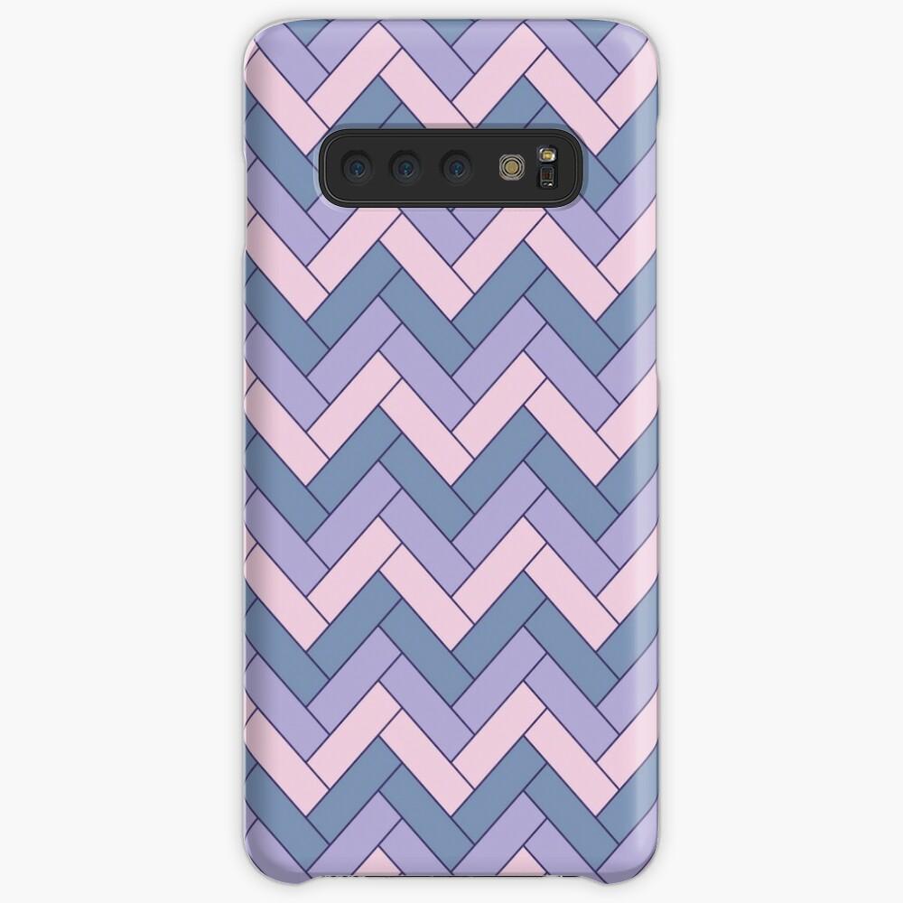 Geometric Pattern: Herringbone: Iris Case & Skin for Samsung Galaxy