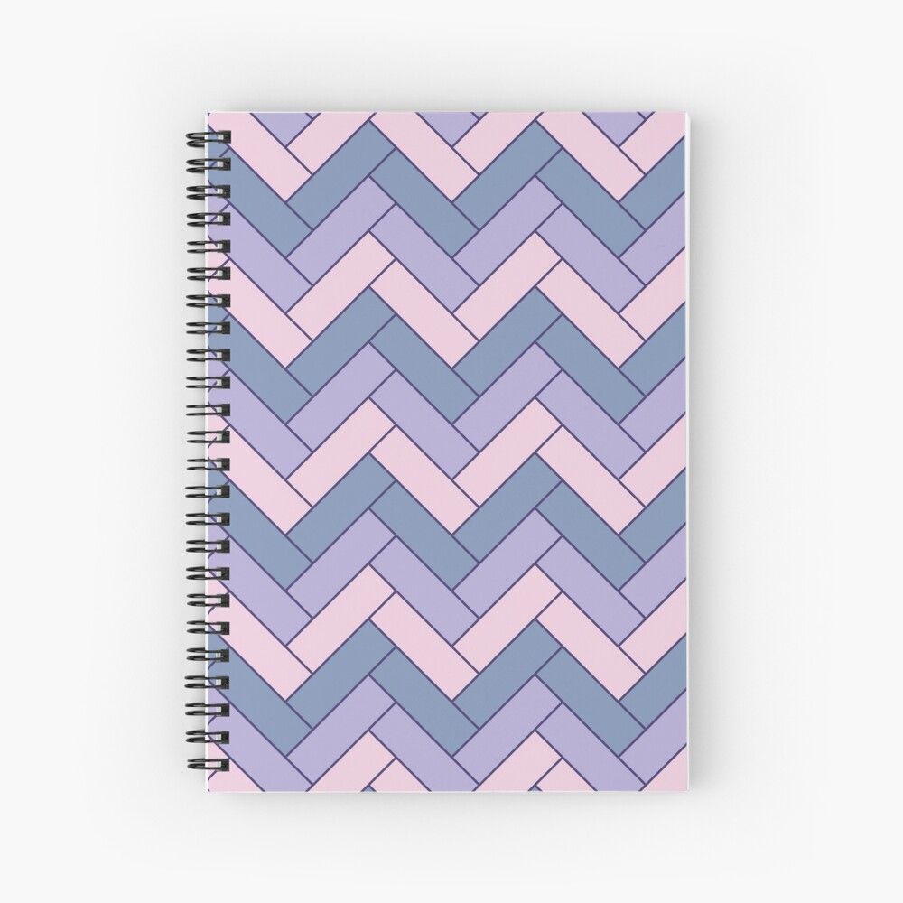 Geometric Pattern: Herringbone: Iris Spiral Notebook