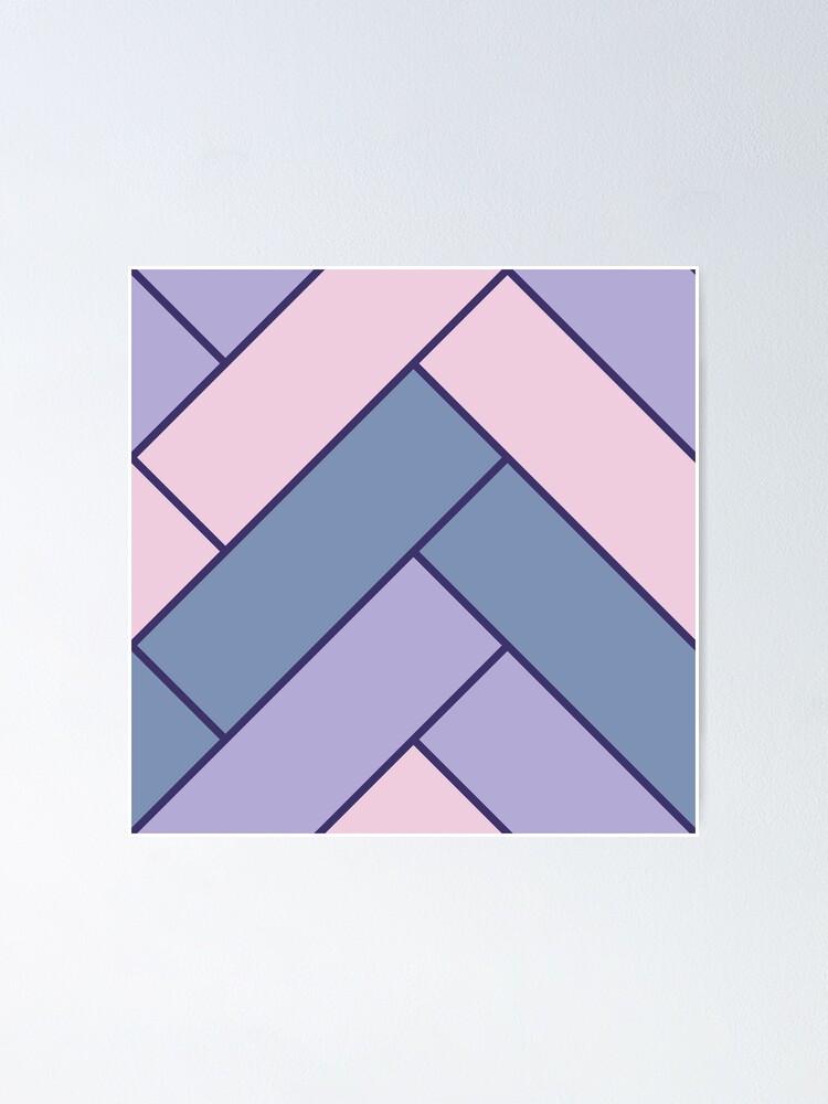 Alternate view of Geometric Pattern: Herringbone: Iris Poster