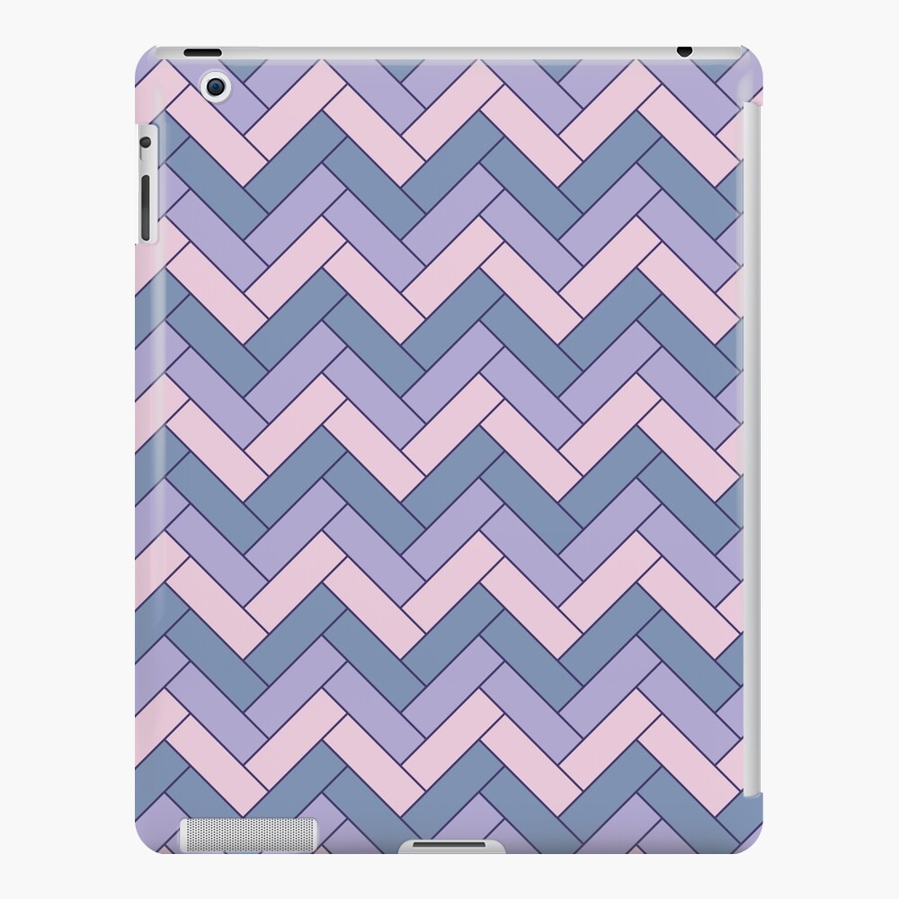 Geometric Pattern: Herringbone: Iris iPad Case & Skin