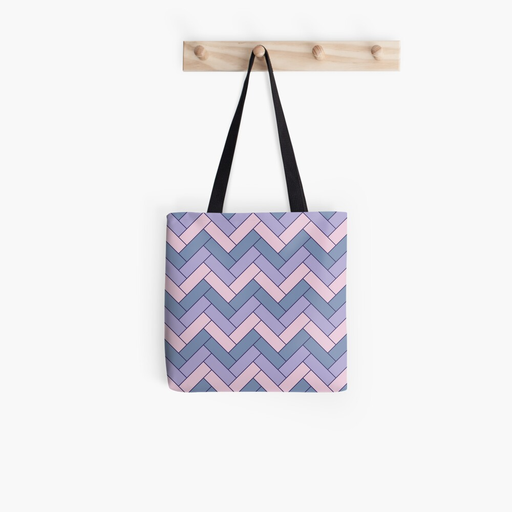 Geometric Pattern: Herringbone: Iris Tote Bag