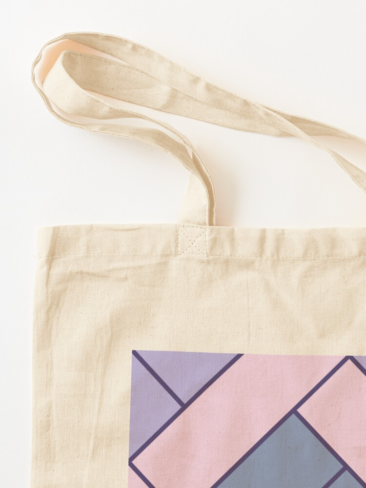 Alternate view of Geometric Pattern: Herringbone: Iris Tote Bag