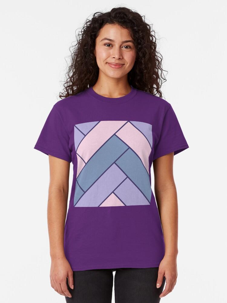 Alternate view of Geometric Pattern: Herringbone: Iris Classic T-Shirt