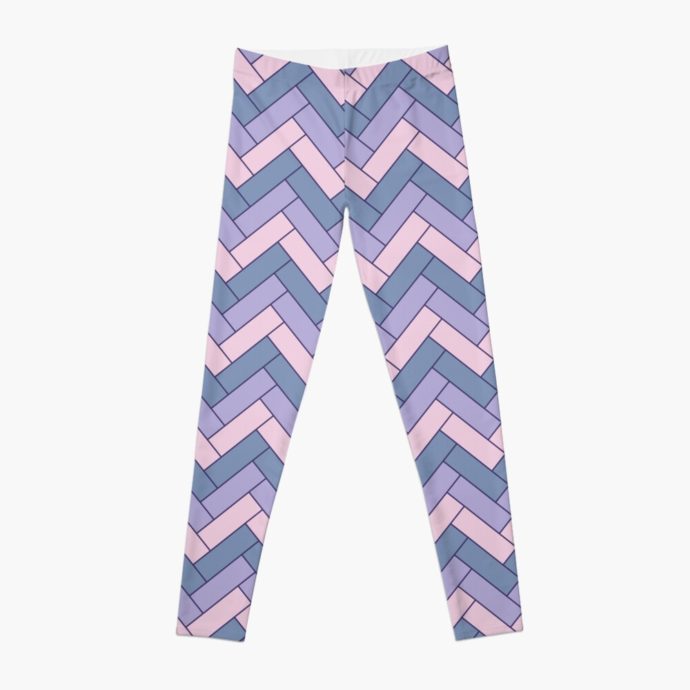 Geometric Pattern: Herringbone: Iris Leggings