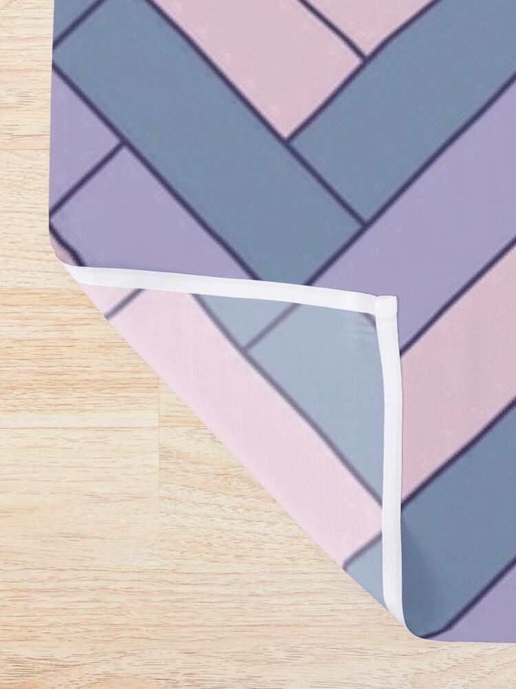 Alternate view of Geometric Pattern: Herringbone: Iris Shower Curtain