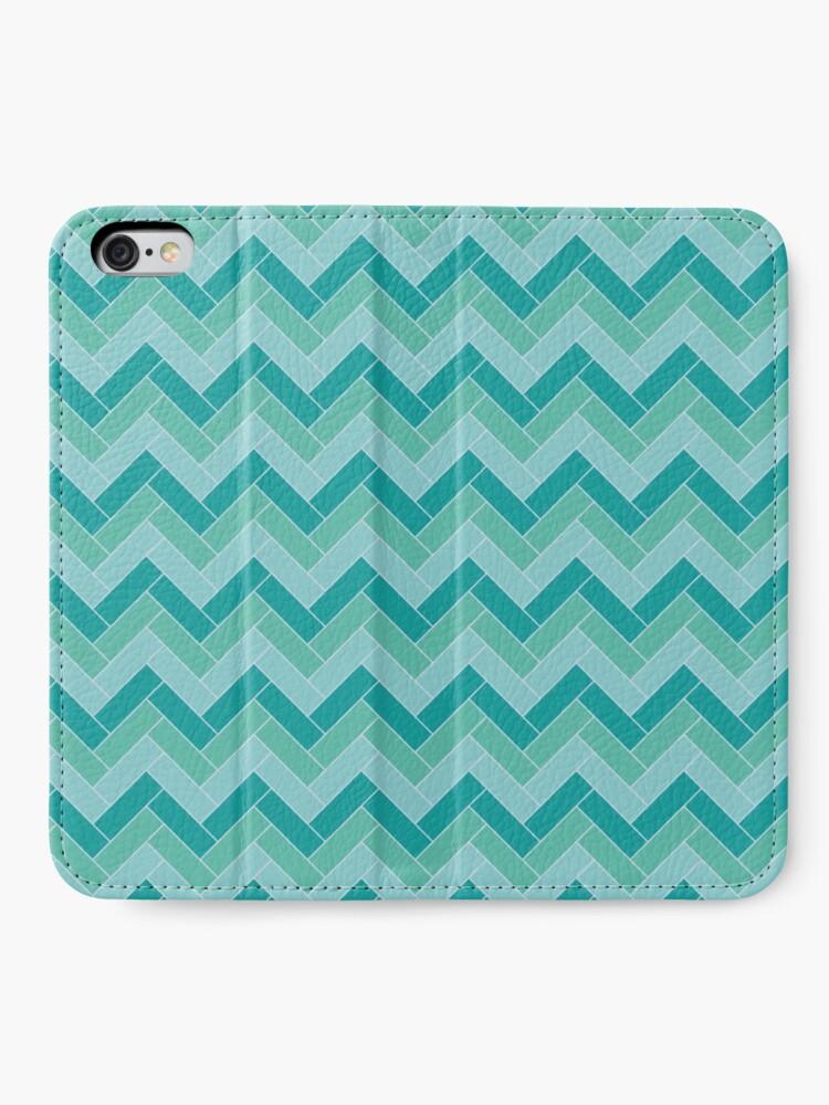 Alternate view of Geometric Pattern: Herringbone: Moss iPhone Wallet