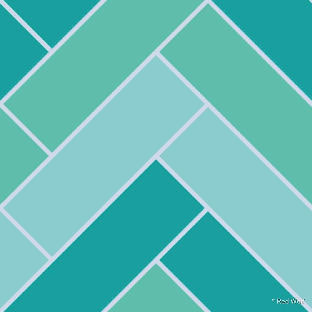 Geometric Pattern: Herringbone: Moss by * Red Wolf