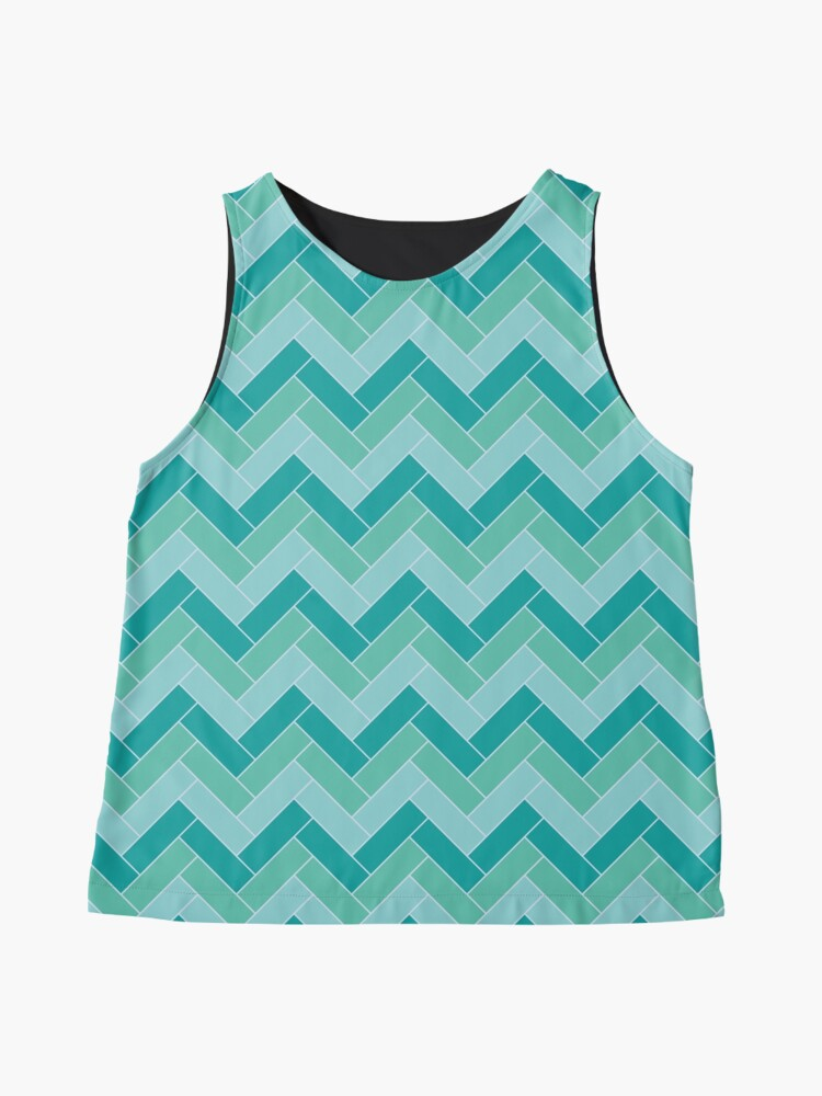 Alternate view of Geometric Pattern: Herringbone: Moss Sleeveless Top