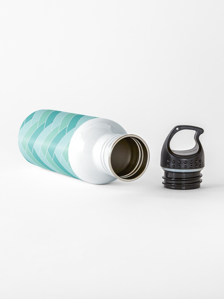 Alternate view of Geometric Pattern: Herringbone: Moss Water Bottle