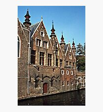 Canal in Brugges, Belgium Photographic Print