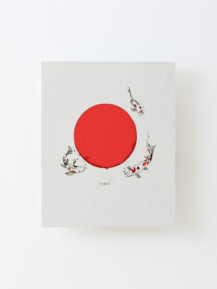 Alternate view of Koi and Sun Mounted Print