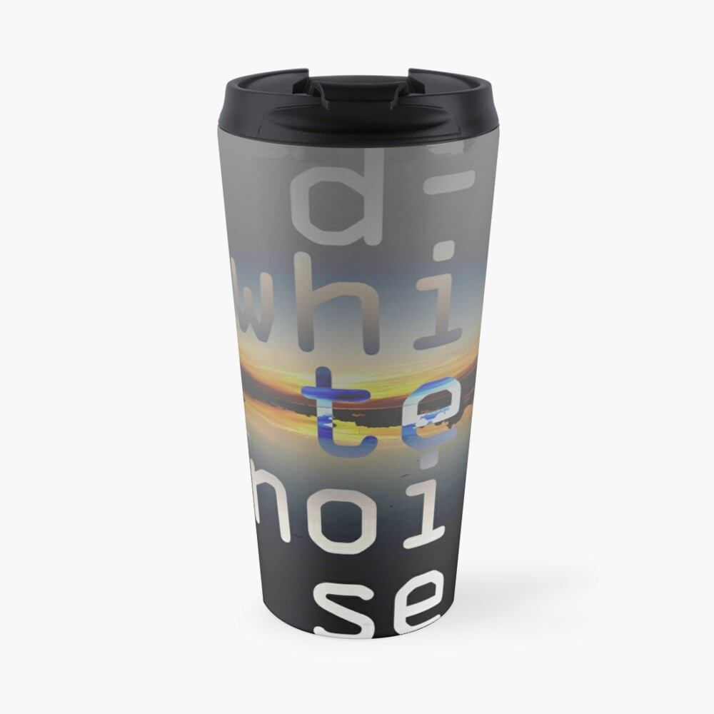 D-White Noise - sunset beach stack - merch Travel Mug