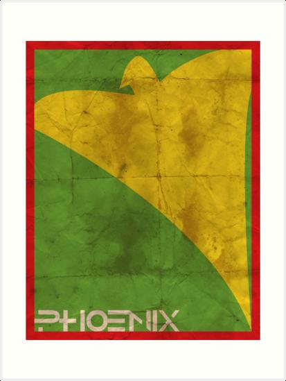 Minimalist Phoenix by Adam Grey