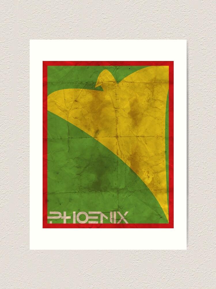 Alternate view of Minimalist Phoenix Art Print