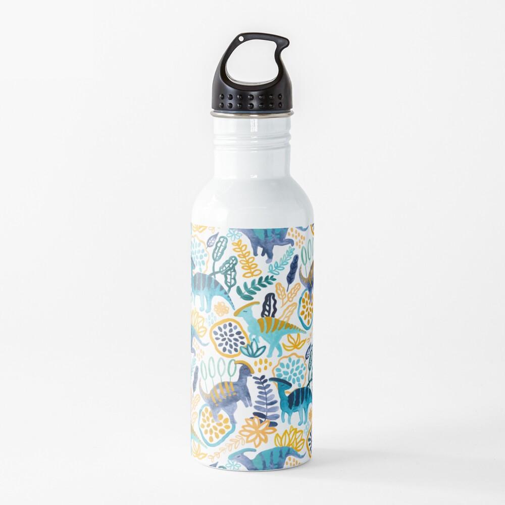 Gouache Parasaurolophuses  Water Bottle